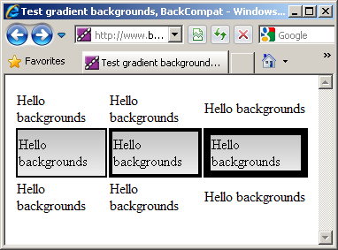 Internet explorer 8 table cell loses border when css for Html table border color