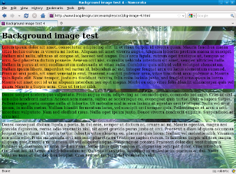 Screenshot of gradient backgrounds Firefox