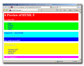 Styled HTML 5 in IE7