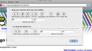 Safari toolbar customisation dialogue
